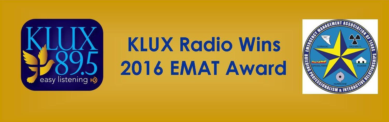 "<div align=""center"">KLUX 2016 EMAT Award Recipient</div>"