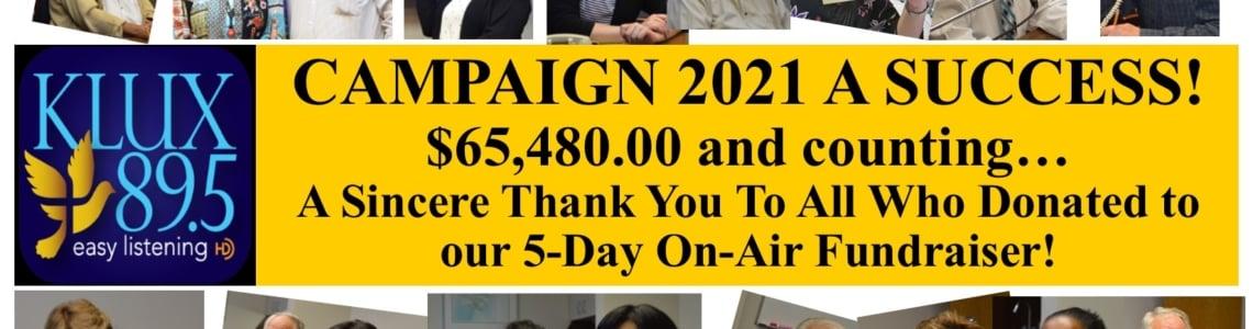 "<div align=""center"">Campaign 2021 A Success!!</div>"